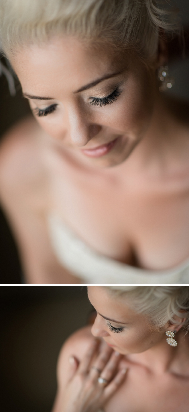 Stunning snap of the beautiful bride before the ceremony!
