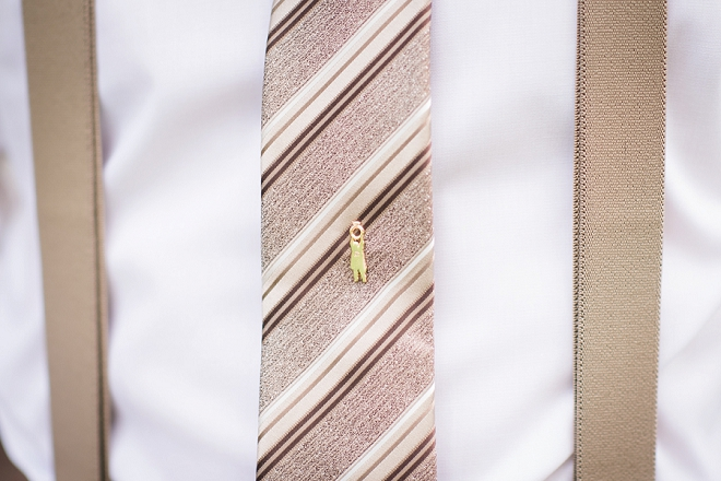 Custom tie pin made for the Groom!