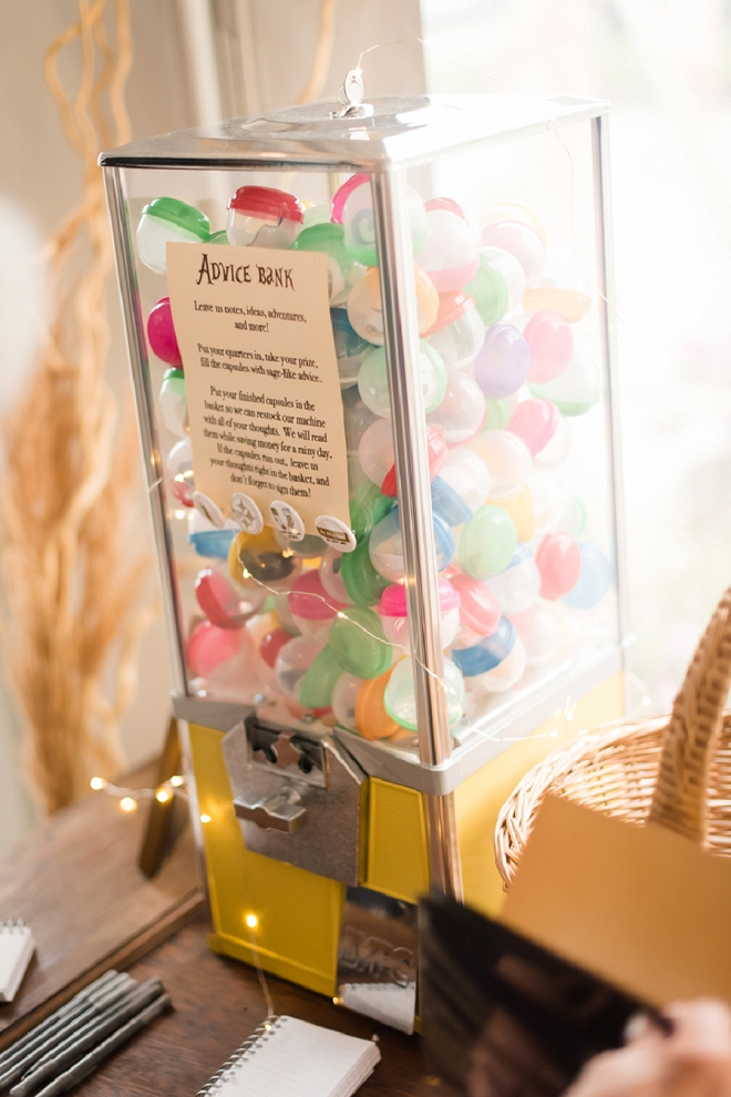We're in love with this fun advice bank idea!