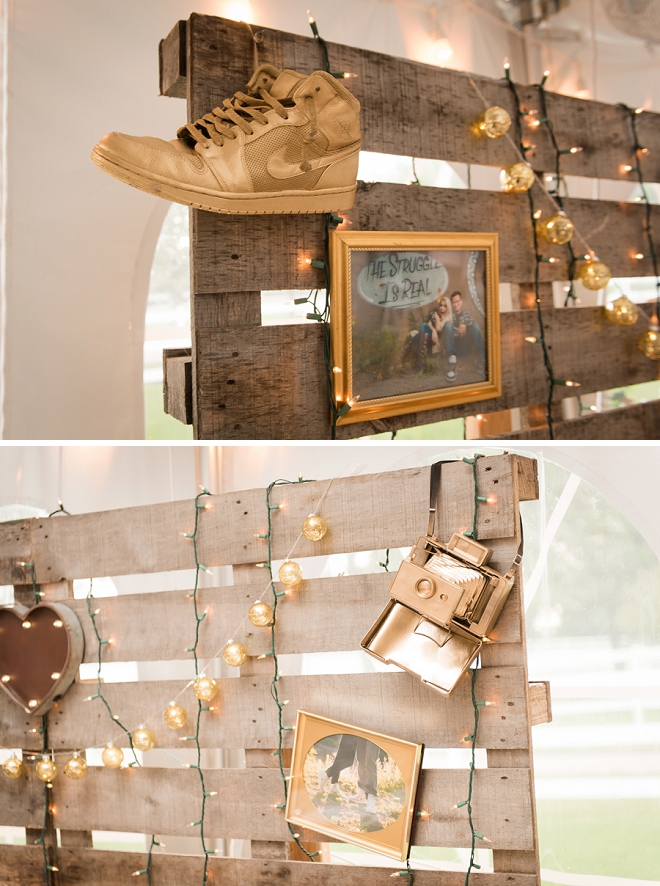 So many cute details at this stunning wedding!