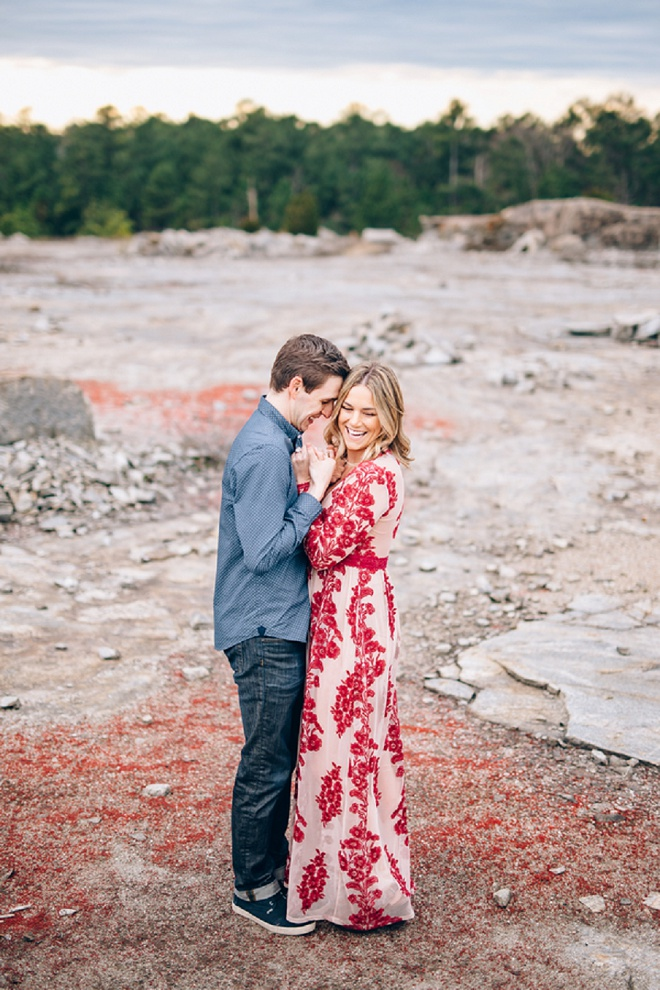 Swooning over this romantic desert engagement session!