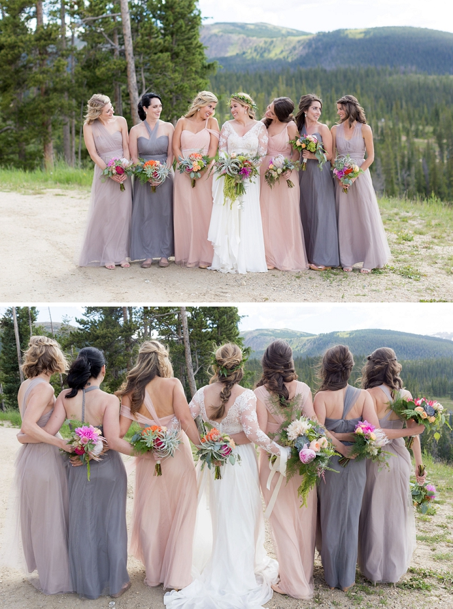 This Bride and her stunning Bridesmaid's are so gorgeous!!