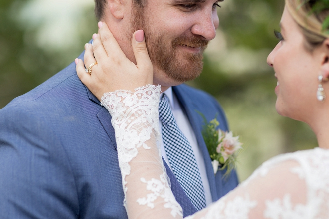 We love this couple and their super sweet first look!