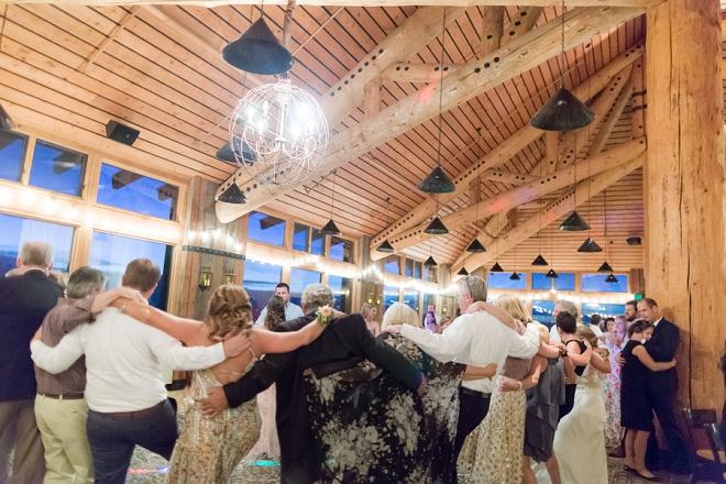 Stunning winter resort reception at this couple's Denver wedding!