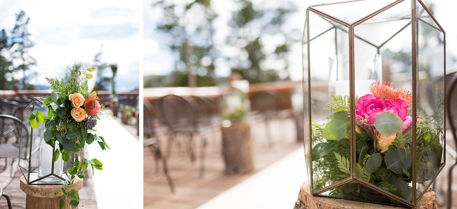 The bride went above and beyond with her stunning ceremony flowers!