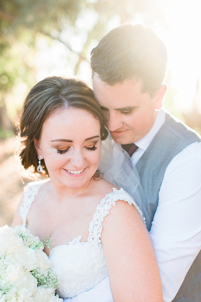 We love this couple's darling outdoor wedding with handmade details!