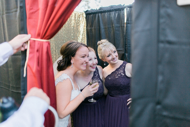 Fun snap of the Bride and her Bridesmaid's having fun in the photobooth!