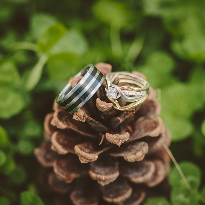 Winter wedding ring shot from The Picture People LA