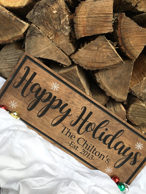 We love this darling holiday sign for your porch!
