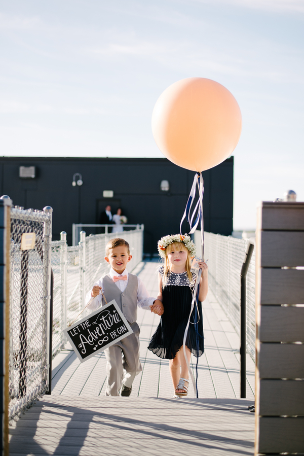 How darling are this couple's flower girl and ring bearer?! So adorable!!