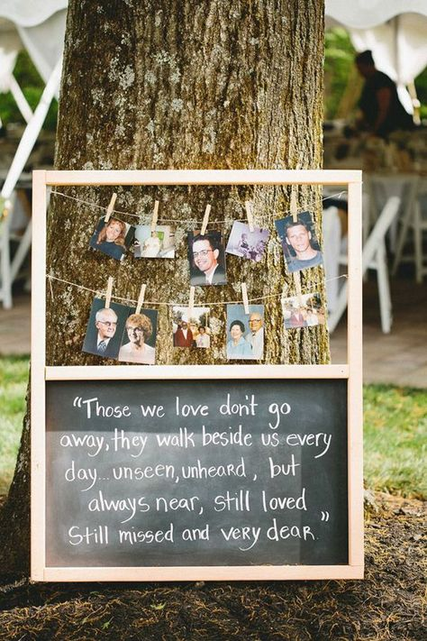 I love this DIY idea to remember loved ones at your wedding.
