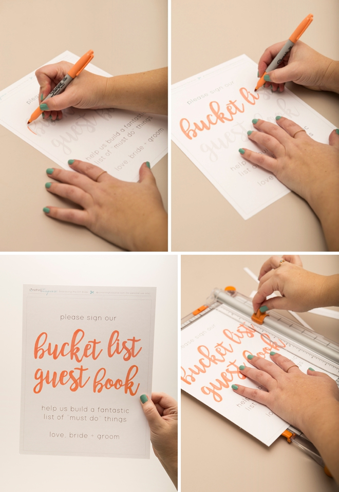 you have to see this adorable bucket list wedding guest book