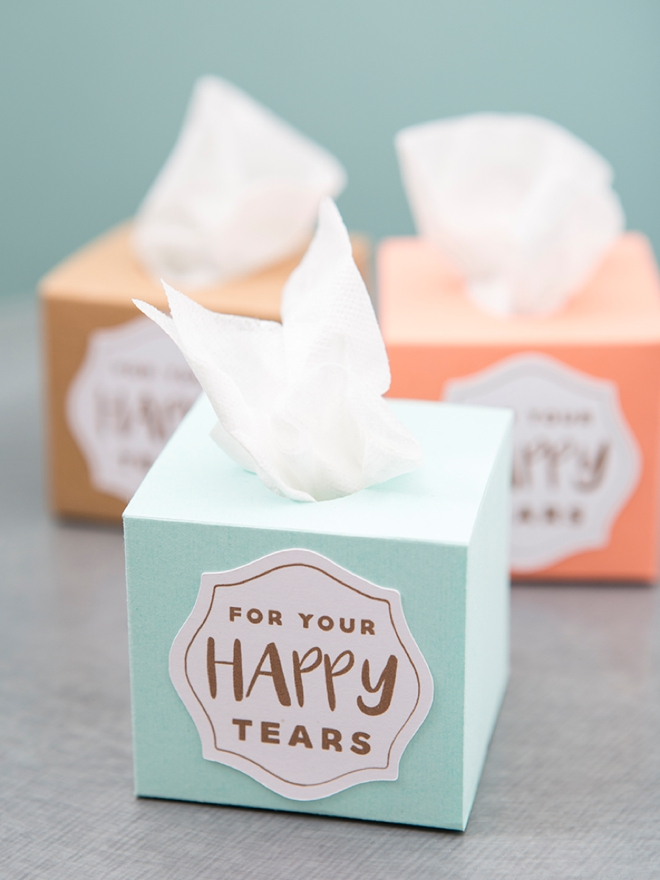 Make These Mini Wedding Tissue Bo Using Your Cricut Explore In Less Than 5 Minutes