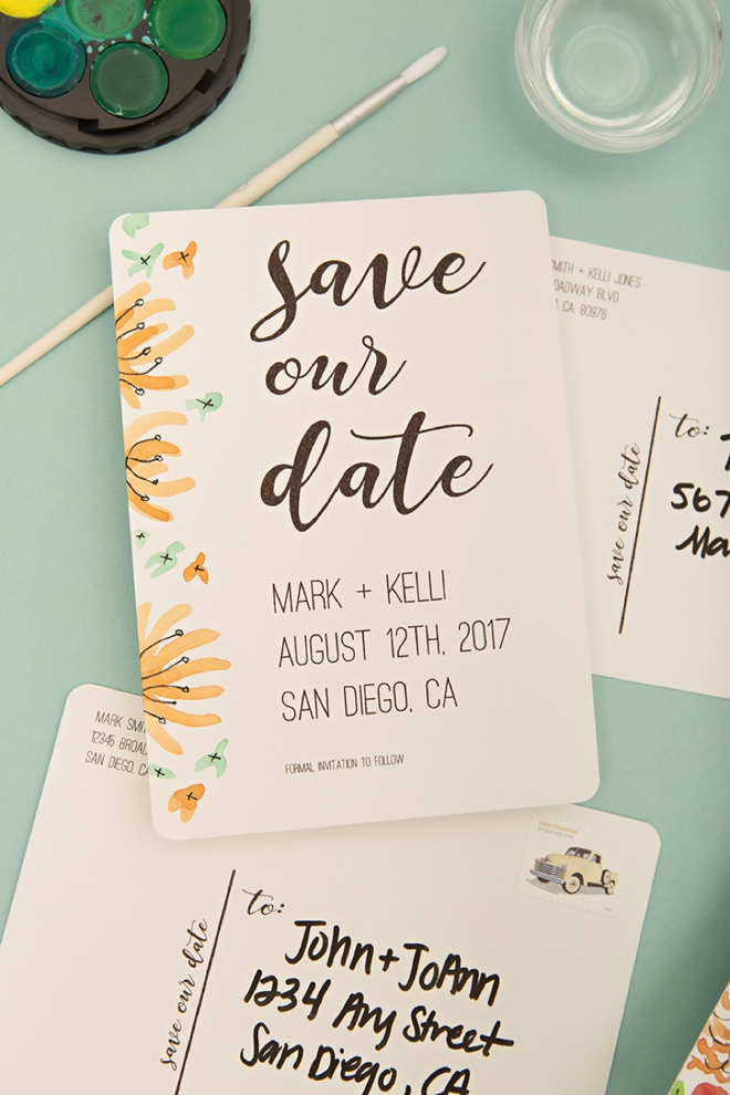 Check out these adorable free printable save the date postcards for Save the date printable