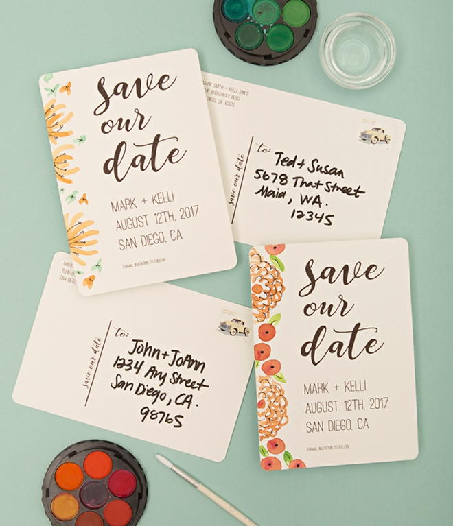 image regarding Free Printable Save the Date referred to as Do it yourself Help save The Day Postcards For Weddings - Do it yourself