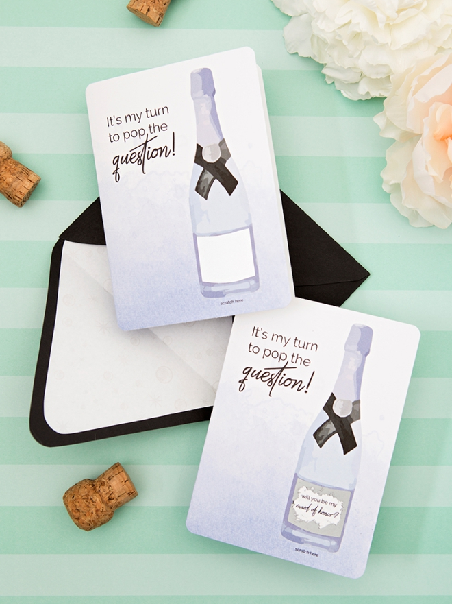 You HAVE to see these adorable will you be my maid of honor scratcher cards! You can print them for free!