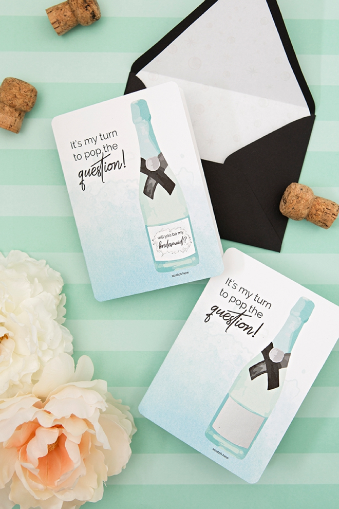 You HAVE to see these adorable will you be my bridesmaid scratcher cards! You can print them for free!