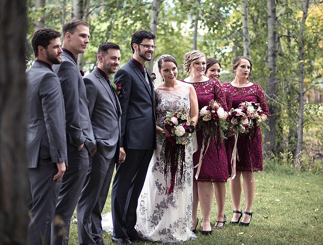 Fun shot of the Bride and Groom and their gorgeous wedding party!