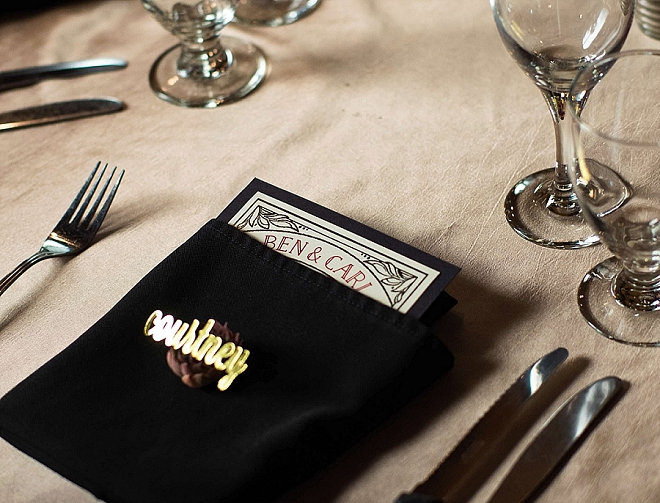 How darling are these DIY place cards at their reception?! Love!