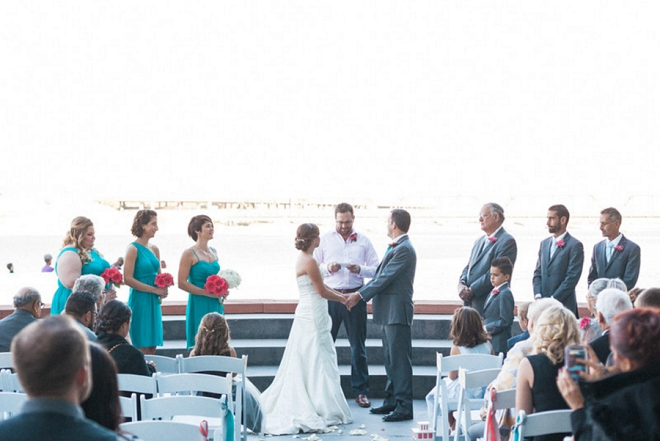 We love this sweet snap of the Bride and Groom saying I do