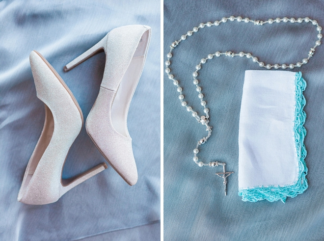 Loving this Bride's wedding day details and Something Old!