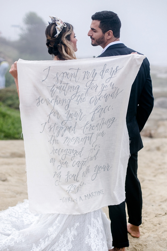 We're in LOVE with this wedding quote sheet for you pictures!