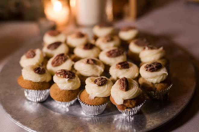 Delicious desserts at this couple's late night dessert bar wedding!