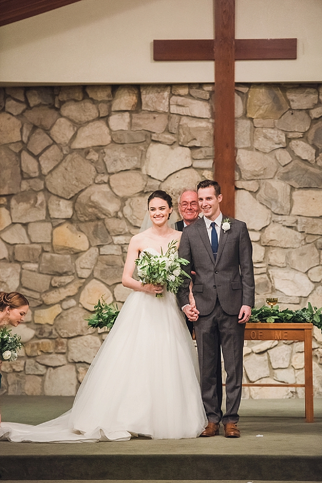 We're crushing on this super sweet ceremony at this gorgeous Santa Barbara wedding!