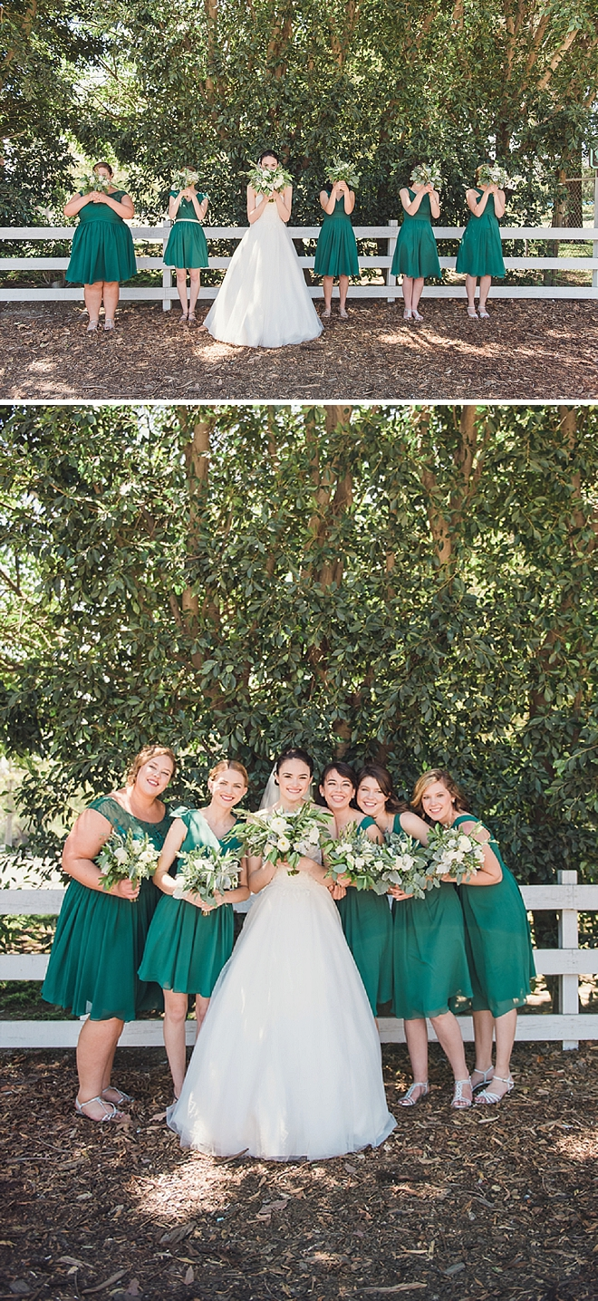 Sweet snaps of the Bride and her Bridesmaid's getting ready for the ceremony!