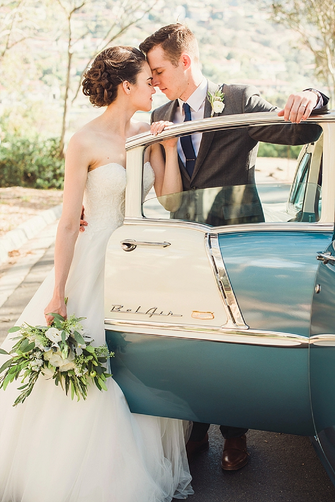 We are in LOVE with this dreamy Santa Barbara wedding - so classic!