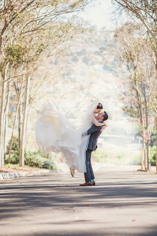 We are swooning over this uber-romantic Mr. and Mrs. and their stunning wedding!