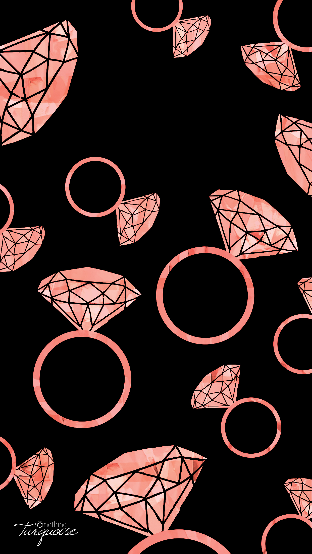 FREE pink diamond ring iPhone wallpaper!