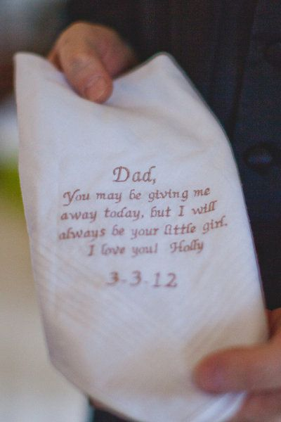 So sweet.  Such a nice gift idea for the bride to give to her dad.