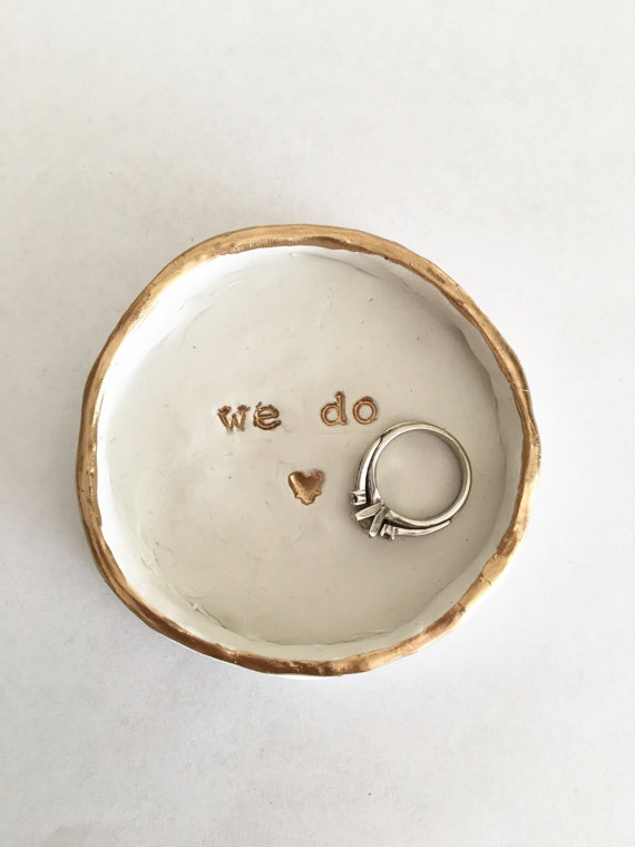 Crushing on this darling we do engagement ring dish!