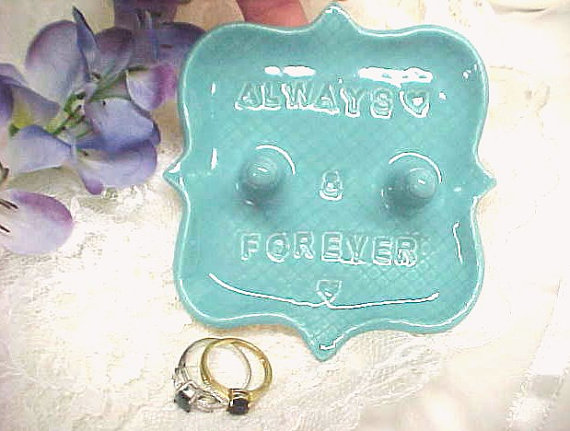 We love this turquoise always and forever ring holder!