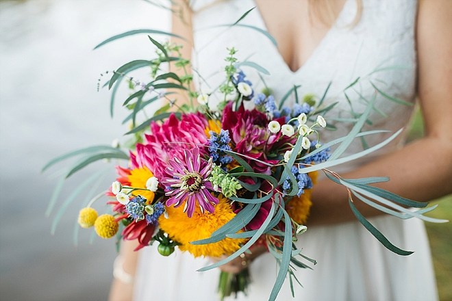 We're in LOVE with this Bride's bouquet that she grew herself!!