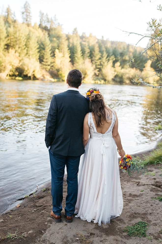 Crushing on this super romantic Mr. and Mrs. and their dreamy forest wedding!