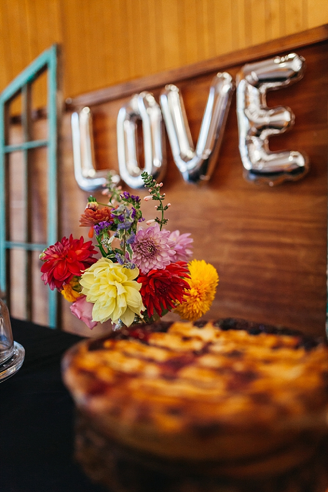 Crushing on this couple's dessert bar full of homemade pies!