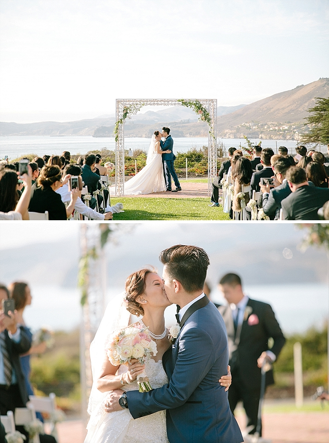 We're crushing on this darling couple's stunning outdoor ceremony!