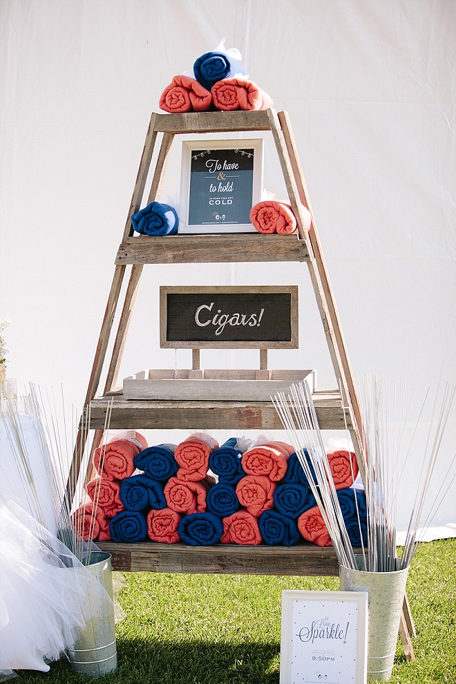 How cute is this idea?! The Bride made a cute and cozy corner at her reception!