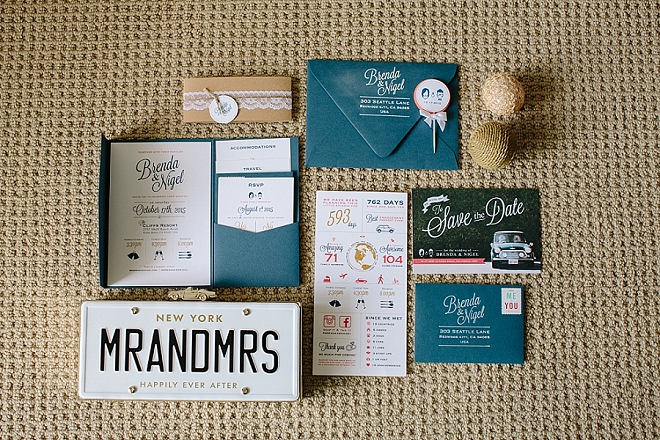In LOVE with this stunning invitation set the Bride DIY'd herself!