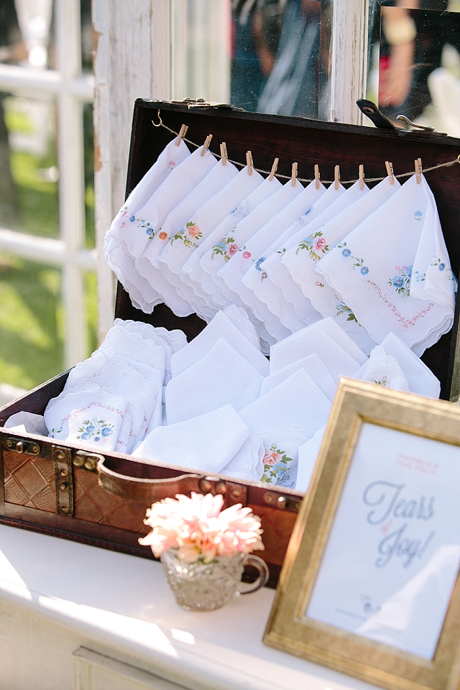 Such a cute idea! This couple featured for your happy tears hankys!
