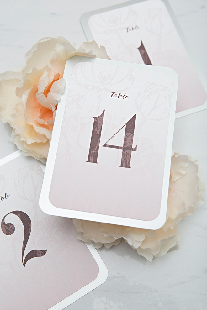 photo relating to Free Printable Table Numbers called Examine Out All those Absolutely free Printable, Purple Floral Desk Figures!