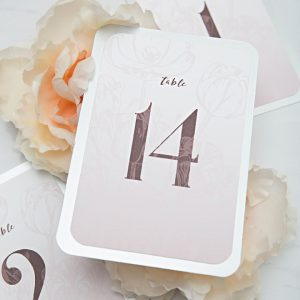 Download and print these pink floral table numbers now for free!