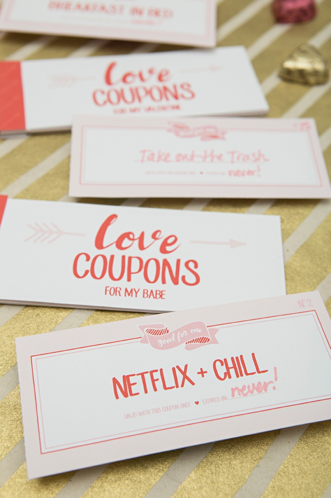 How cute are these DIY Love Coupon booklets!? They even include blank ones you can fill in!