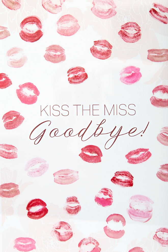 Genius image within kiss the miss goodbye printable