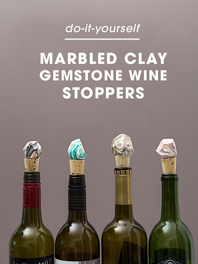 Learn how to make these awesome marbled gemstone wine stoppers!