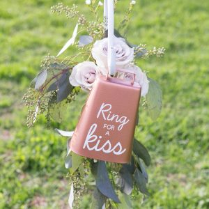 You have to see this darling DIY Ring For A Kiss, cowbell!