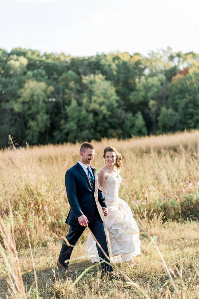 We're crushing on this darling Mr. and Mrs. and all of the handmade details of their big day!