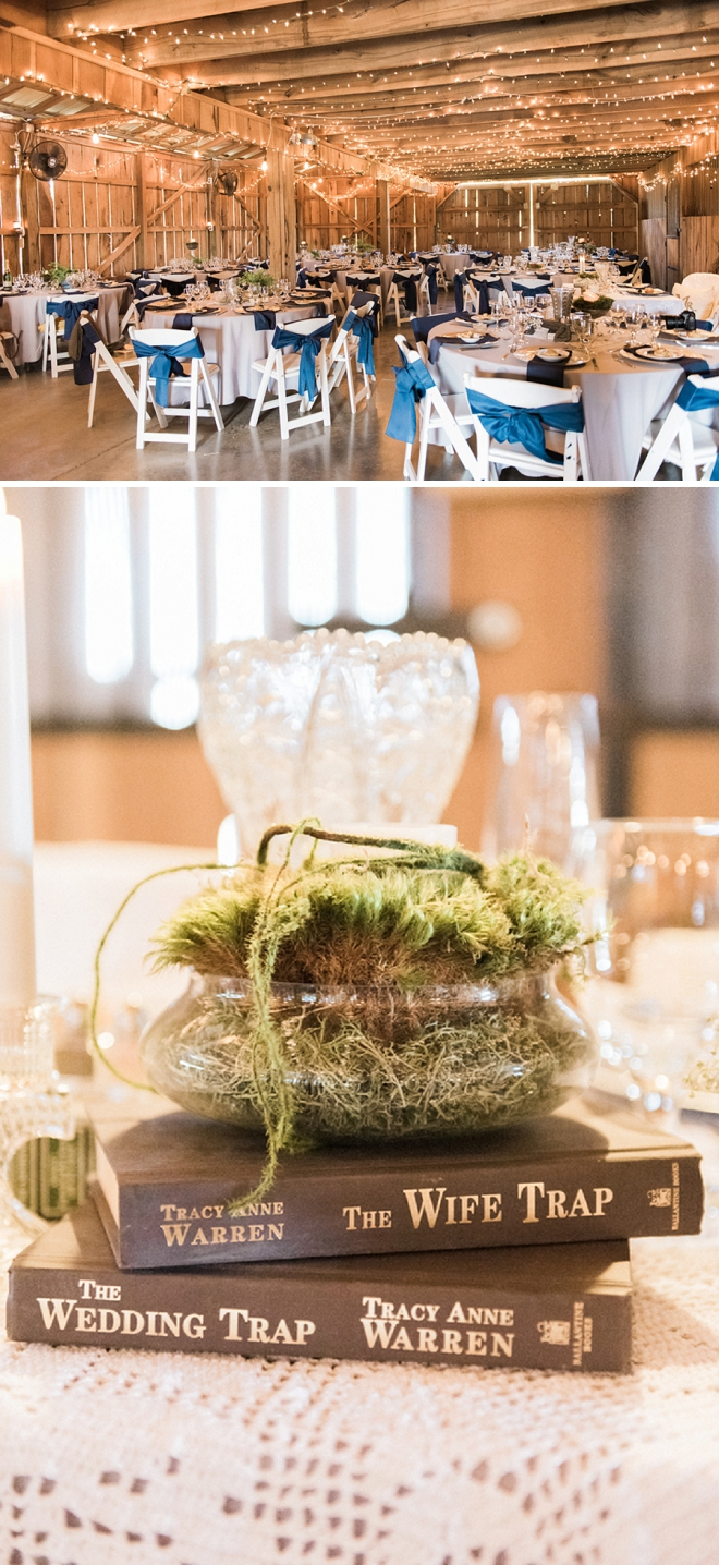 We're in LOVE with this couple's amazing centerpiece decor! Super unique and darling!
